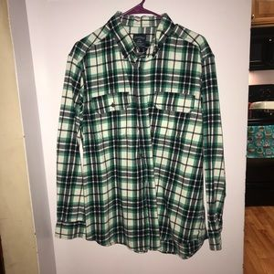 Men's blue and green flannel size L